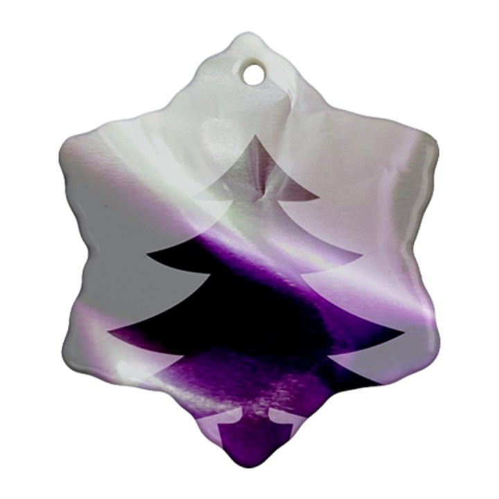 Purple Christmas Tree Ornament (Snowflake)