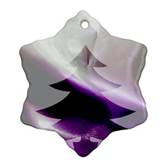 Purple Christmas Tree Snowflake Ornament (2-Side)