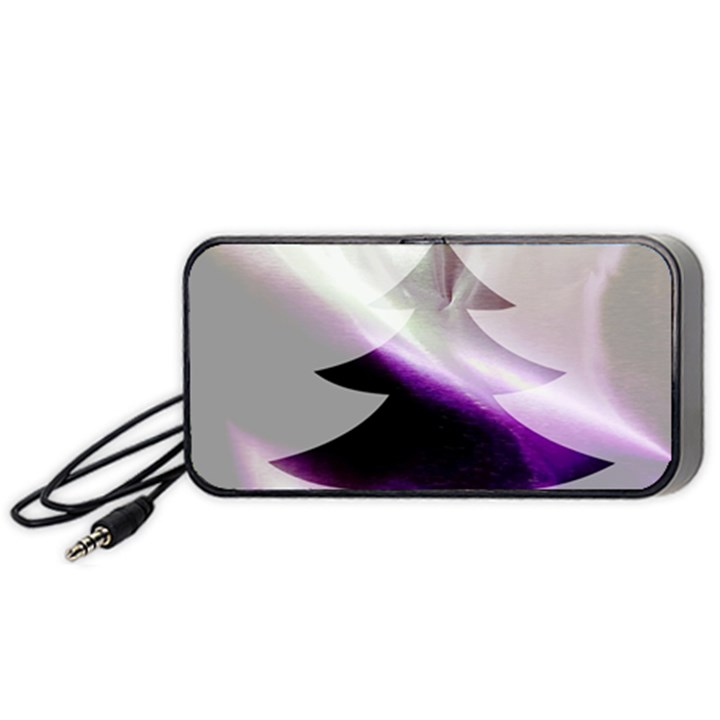 Purple Christmas Tree Portable Speaker (Black)