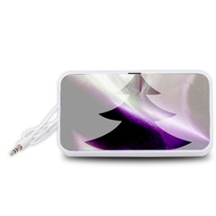 Purple Christmas Tree Portable Speaker (White)