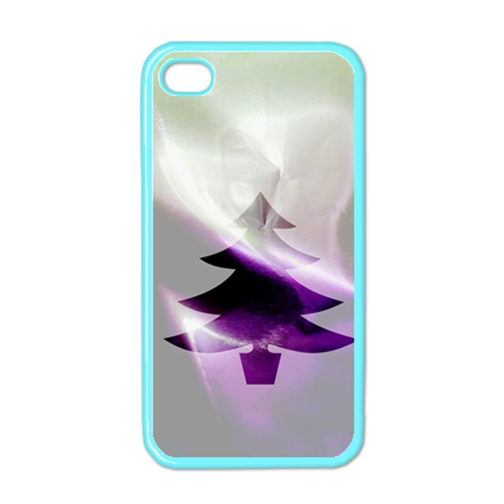 Purple Christmas Tree Apple iPhone 4 Case (Color)