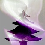 Purple Christmas Tree Twin Hearts 3D Greeting Card (8x4) Inside