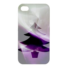 Purple Christmas Tree Apple Iphone 4/4s Hardshell Case