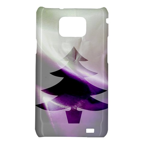 Purple Christmas Tree Samsung Galaxy S2 i9100 Hardshell Case