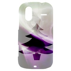 Purple Christmas Tree HTC Amaze 4G Hardshell Case