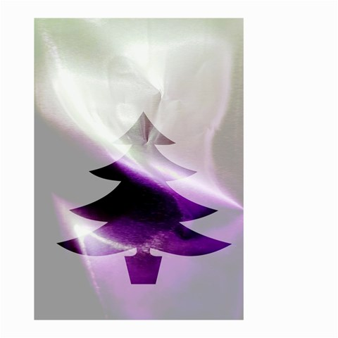 Purple Christmas Tree Small Garden Flag (Two Sides)