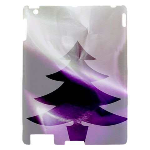 Purple Christmas Tree Apple iPad 2 Hardshell Case