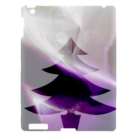 Purple Christmas Tree Apple iPad 3/4 Hardshell Case