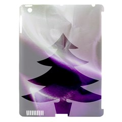 Purple Christmas Tree Apple iPad 3/4 Hardshell Case (Compatible with Smart Cover)