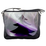 Purple Christmas Tree Messenger Bags Front