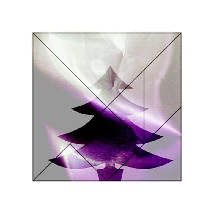 Purple Christmas Tree Acrylic Tangram Puzzle (4  x 4 )