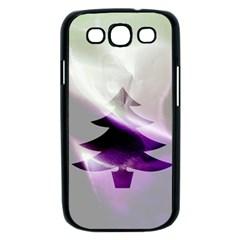 Purple Christmas Tree Samsung Galaxy S III Case (Black)