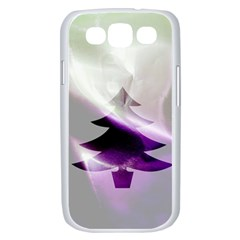 Purple Christmas Tree Samsung Galaxy S III Case (White)