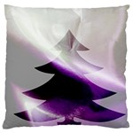 Purple Christmas Tree Large Cushion Case (One Side) Front