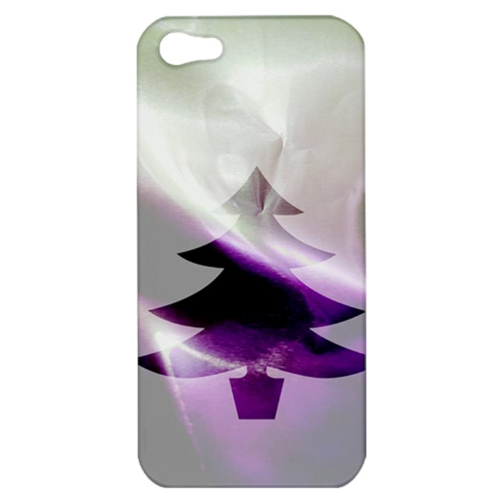 Purple Christmas Tree Apple iPhone 5 Hardshell Case
