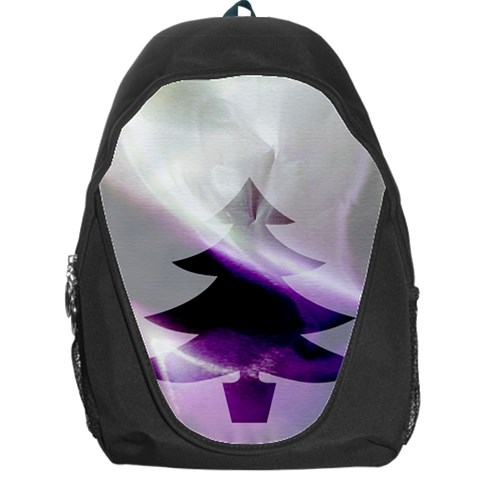 Purple Christmas Tree Backpack Bag