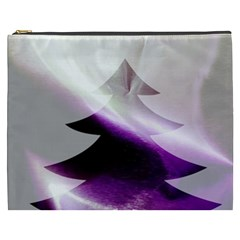 Purple Christmas Tree Cosmetic Bag (XXXL)