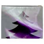 Purple Christmas Tree Cosmetic Bag (XXXL)  Back