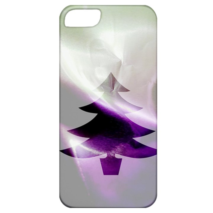 Purple Christmas Tree Apple iPhone 5 Classic Hardshell Case