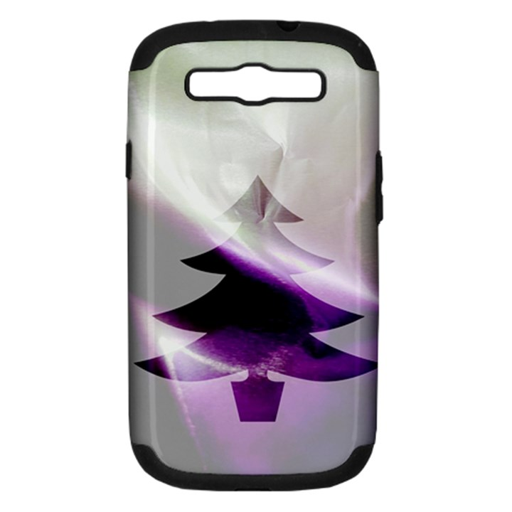 Purple Christmas Tree Samsung Galaxy S III Hardshell Case (PC+Silicone)
