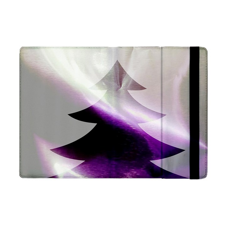 Purple Christmas Tree Apple iPad Mini Flip Case