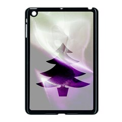 Purple Christmas Tree Apple iPad Mini Case (Black)