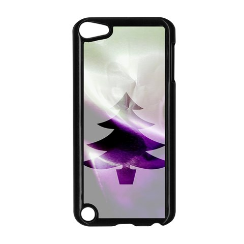 Purple Christmas Tree Apple iPod Touch 5 Case (Black)