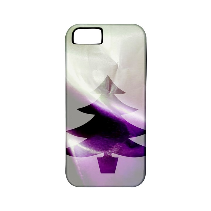 Purple Christmas Tree Apple iPhone 5 Classic Hardshell Case (PC+Silicone)