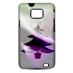 Purple Christmas Tree Samsung Galaxy S II i9100 Hardshell Case (PC+Silicone)