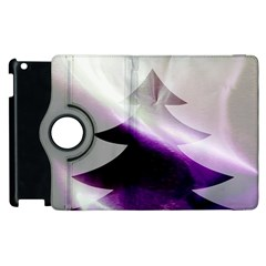 Purple Christmas Tree Apple Ipad 2 Flip 360 Case