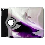 Purple Christmas Tree Apple iPad Mini Flip 360 Case Front