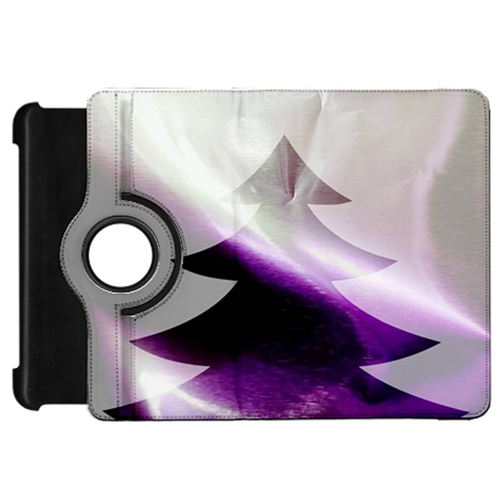 Purple Christmas Tree Kindle Fire HD Flip 360 Case