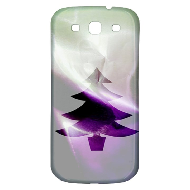 Purple Christmas Tree Samsung Galaxy S3 S III Classic Hardshell Back Case