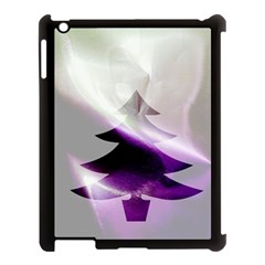 Purple Christmas Tree Apple iPad 3/4 Case (Black)