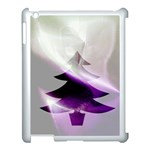 Purple Christmas Tree Apple iPad 3/4 Case (White) Front