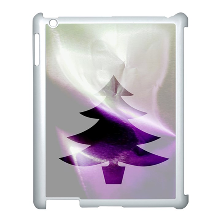 Purple Christmas Tree Apple iPad 3/4 Case (White)