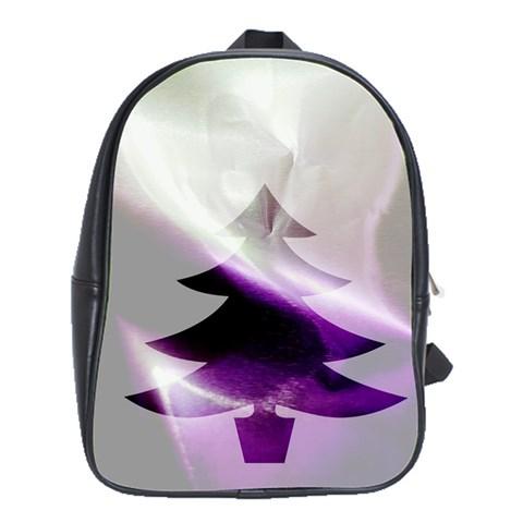 Purple Christmas Tree School Bags (XL)