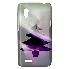 Purple Christmas Tree HTC Desire VT (T328T) Hardshell Case