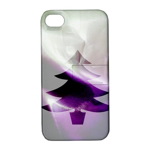 Purple Christmas Tree Apple iPhone 4/4S Hardshell Case with Stand