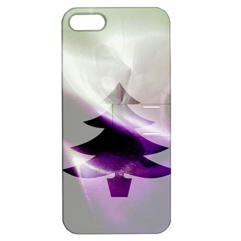 Purple Christmas Tree Apple iPhone 5 Hardshell Case with Stand
