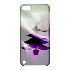 Purple Christmas Tree Apple iPod Touch 5 Hardshell Case with Stand