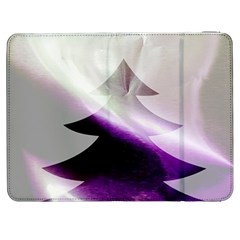 Purple Christmas Tree Samsung Galaxy Tab 7  P1000 Flip Case