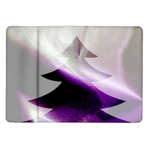 Purple Christmas Tree Samsung Galaxy Tab 10.1  P7500 Flip Case