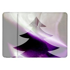 Purple Christmas Tree Samsung Galaxy Tab 8 9  P7300 Flip Case