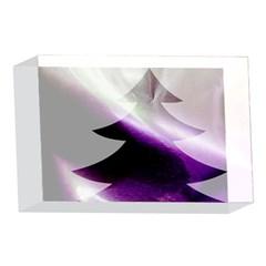 Purple Christmas Tree 4 x 6  Acrylic Photo Blocks