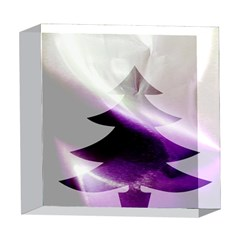Purple Christmas Tree 5  x 5  Acrylic Photo Blocks