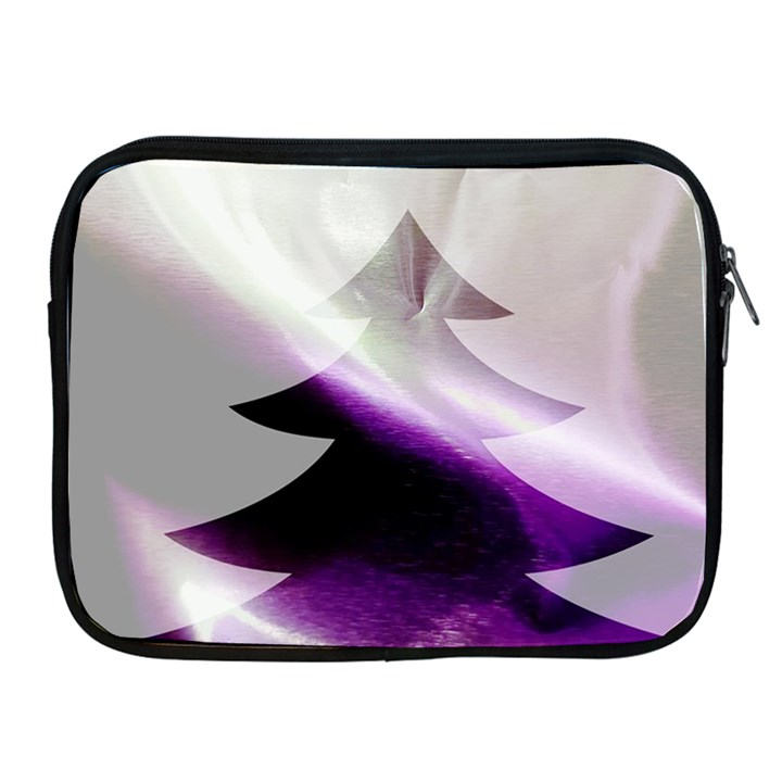 Purple Christmas Tree Apple iPad 2/3/4 Zipper Cases