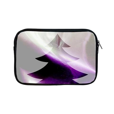 Purple Christmas Tree Apple iPad Mini Zipper Cases