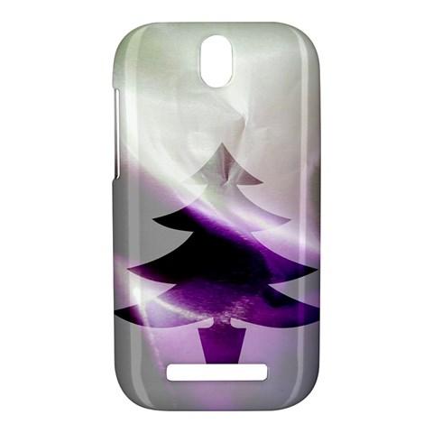 Purple Christmas Tree HTC One SV Hardshell Case