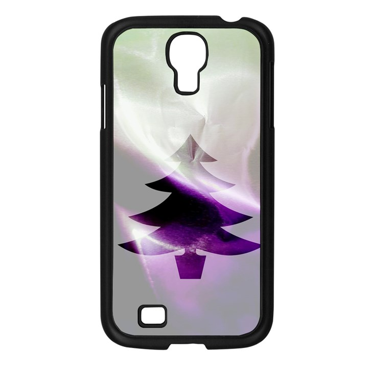 Purple Christmas Tree Samsung Galaxy S4 I9500/ I9505 Case (Black)